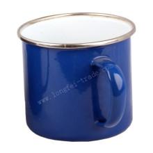 Blau umrandet 5/6/7/8/9/10/11 / 12mm Porzellan Emaille Tasse Tasse