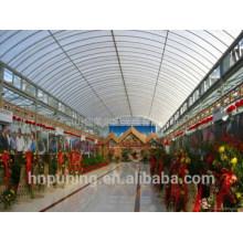 Tipos de policarbonato de las cubiertas del techo que cubren la estructura del muti-pared 100% material de Bayer