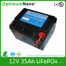 Rechargeable LiFePO4 Battery 12V 35ah for LED Light