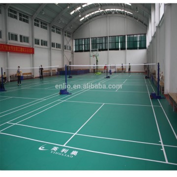 revêtement de sol sportif enlio sports fooring Indoor badminton court