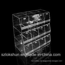 Top Grade Crystal Acryl Display Racks, Foods Store Display Ständer, Acryl Trays