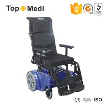 Capacidade de carga Cadeira de rodas motorizada com encosto alto 150kgs