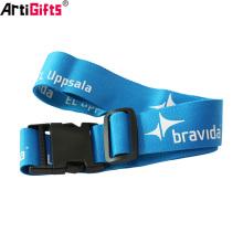 Wholesale Promotional Custom design logo polyester luggage belts with lock