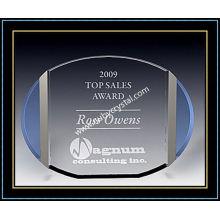 """Plaques de récompense en cristal / plaque ovale 5 """"H (NU-CW723)"""