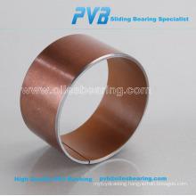 Environment-friendly steel base composite bushing, PTFE based plain bearing