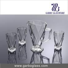 7PCS Clear Glass Water Set