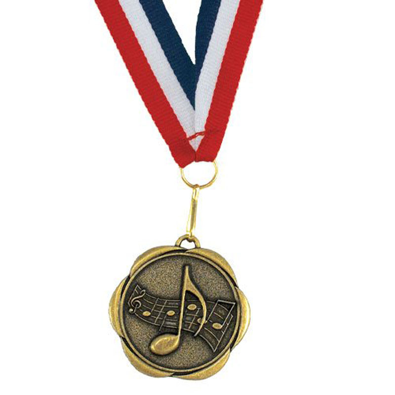 Award Medals With Neck Ribbons Music