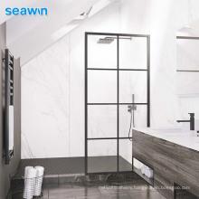 Seawin 10 Mm Tempered Plexiglass Single Stall Frame Clear Shower Glass Door
