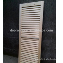China supplier painting single louver door lowes pine wood door