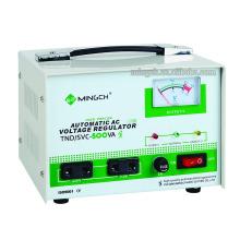 Настраиваемая однофазная серия Tnd / SVC-0.5k Полностью автоматический регулятор напряжения переменного тока / стабилизатор
