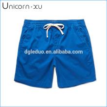 Pantalones cortos de natación azul de algodón elástico cortocircuitos de promoción de secado rápido