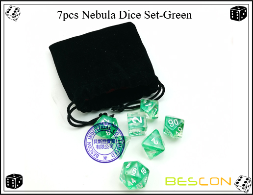 7pcs Nebula Dice Set-Green