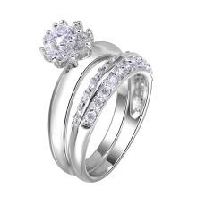anel de moda jóias casal anel de ouro chapeamento anel casal jóias