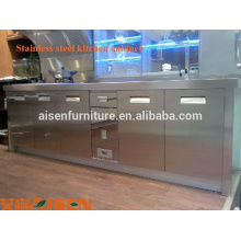 Moderno profesional barato restaurante 304 # de acero inoxidable despensa Cocina profesional gabinete hecho en china