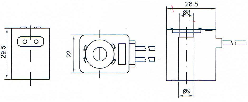 Dimension of BB09029504 Solenoid Coil:
