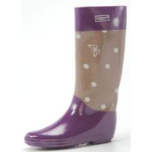 Фиолетовый женщин пунктир резиновые сапоги для холодной зимы