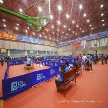 Os esportes internos baratos de alta qualidade do PVC do certificado de Ittf rolam o assoalho / esteira para a espessura do tênis de mesa 4,5