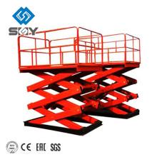 Plataforma de trabajo aéreo móvil, plataforma de elevación pequeña de tijera, plataforma hidráulica