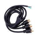 heavy duty twist locking NEMA 6-30P y splitter power cord