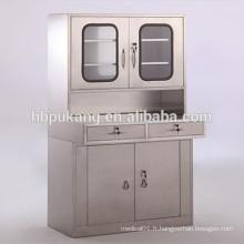 Cabinet de médecine hospitalière en acier inoxydable verrouillable