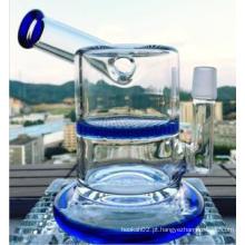 6.5inch Altura Tubo de água de vidro Tubo de fumar Honeycomb Perc Martelo Forma Vidro Tubo de água