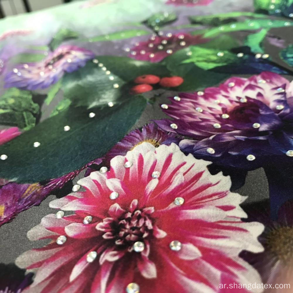 60S Satin Rayon Real Digital Print Fabric