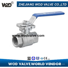 2PC Haute Plate-forme Ss Ball Valve