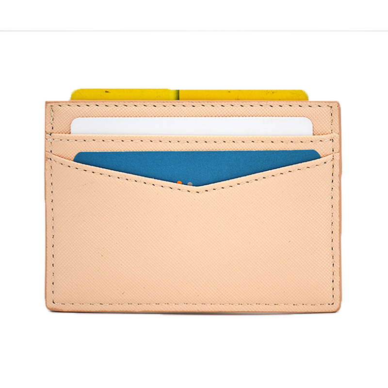 Factory Price Saffiano Leather Business Credit Card Holder