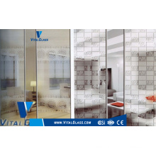 Frosted and Paint Coated Art Glass for Decorative Furnature