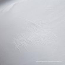 Weißes Jacquard-Gewebe für Bettwäsche (WSF-2016005)
