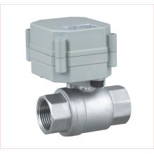 Dn15 1/2 '' Válvula de esfera de aço inoxidável DC5V de 2 vias Válvula de controle motorizada para água potável