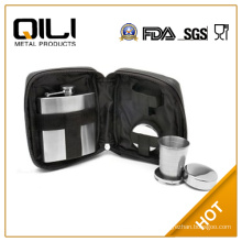 Travel Bar drinkware with Flask and folding cup