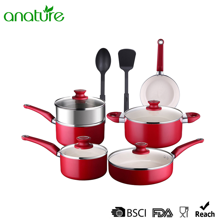 Pressed 12 piece Non Stick Cookware Set