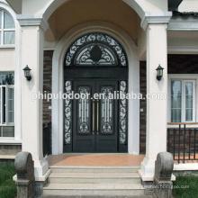 Фабрика конкурентоспособная цена железные главные входные двери гриль дизайн