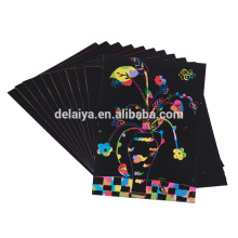 Custom Creative Freestyle Sparkle Scratch Art Painting Paper