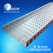 Preço de bandeja de cabo de aço galvanizado por imersão a quente ventilada
