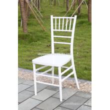 Metal reforzado PP silla chiavari blanco