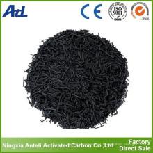 Carbón activado con pellets de carbón, tamaño 4 mm, CTC mínimo 80%