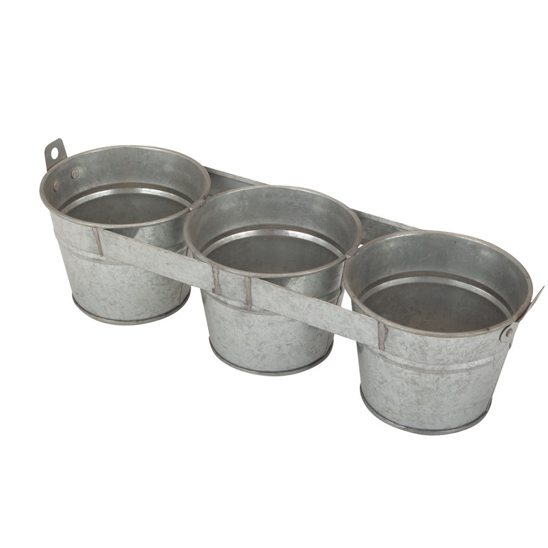 Set Of 3 Rustic Plant Pot Set