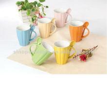 10oz ceramic pumpkin mug with spoon for BS12040