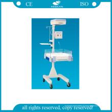 Incubateur pour nourrissons hospitalier avec unité de photothérapie LED AG-Irw002A