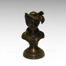 Büsten Messing Statue Signora Decor Bronze Skulptur Tpy-809