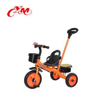 China fábrica fornecimento direto do bebê triciclo novos modelos com barra de empurrar / CE passou empurrar ao longo do trike / criança brinquedo triciclo para 3 anos de idade