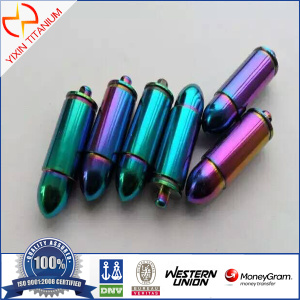 Fashion Colored Bullet Titanium Pendant