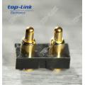 2pin plana tipo Pogo conector de clavija