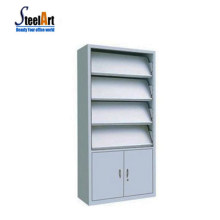 Book store used metal book shelf stand bookcase wall double sided book display
