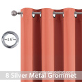 Coral Blackout Curtains 63 Zoll lang