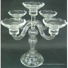 Clear Glass Candle Holder with Five Posters, , .,