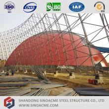 Estructura de marco de espacio de gran envergadura para almacenamiento de carbón