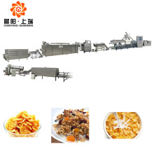 Puffed breakfast cereal corn flakes extruder production line